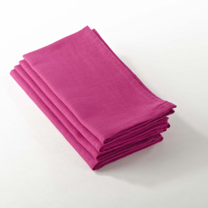 Fennco Styles Classic Dinner Napkins, Set of 4, 7 Colors