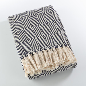 Fennco Styles Sevan Collection Soft Cotton Diamond Weave Throw Blanket