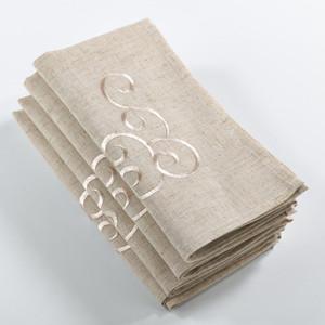 Fennco Styles Embroidered Design Napkin - Set of 4