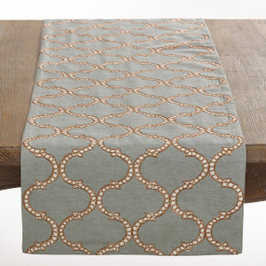 Dastan Collection Stitched Lattice Design Table Runner