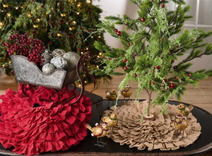 Fennco Styles Ruffled Design Christmas Tree Skirt