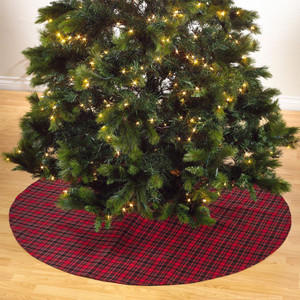 Fennco Styles Highland Plaid Design Christmas Tree Skirt