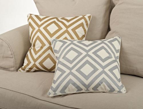 Fennco Styles Metallic Diamond Design Table Runner & Pillows