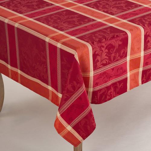 Fennco Styles Pumpion Collection Plaid Design Tablecloth