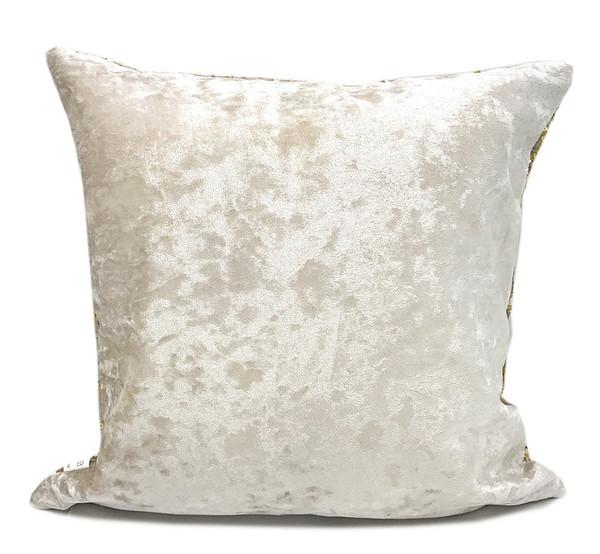 Fennco Styles Elegant Hand Beaded Gold Sequin Velvet Shiny Table Runner/ Decorative Throw Pillow