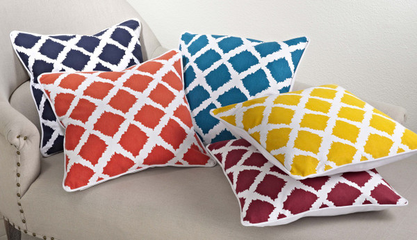Ikat Design Down Filled Decorative Throw Pillow