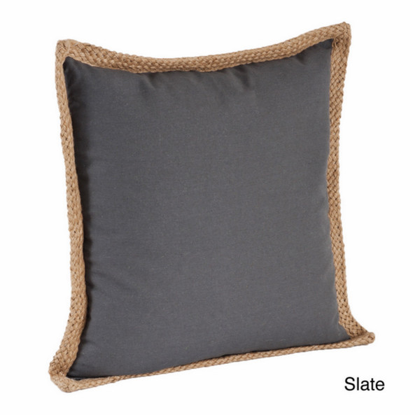 Jute Braided Cotton Throw Pillow