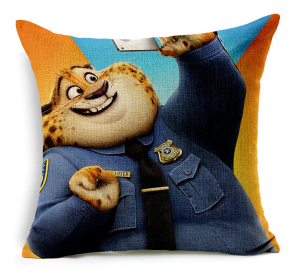 Zootopia Design Throw Cushion Case Pillow Cover, 17-inch Square