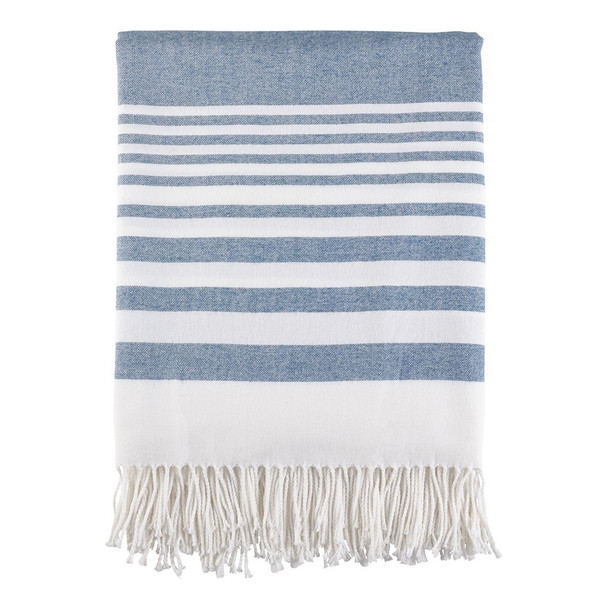 """Fennco Style Classic Lightweight Striped Throw 2 Color -50""""x60"""""""