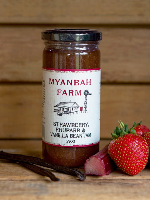Myanbah Strawberry, Rhubarb & Vanilla Bean Jam