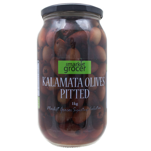 Market Grocer Kalamata Olives Pitted in Brine