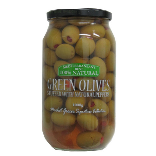Market Grocer Green Olives with Peppers