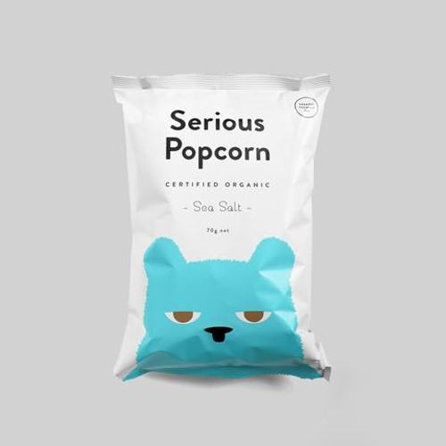 Serious Popcorn Organic Seasalt