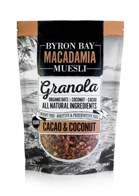 Byron Bay Macadamia Muesli Cacao & Coconut Granola