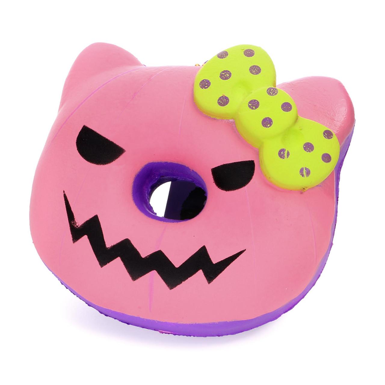 Sanrio Hello Kitty Halloween Pink Pumpkin Donut Squishy   cute wares