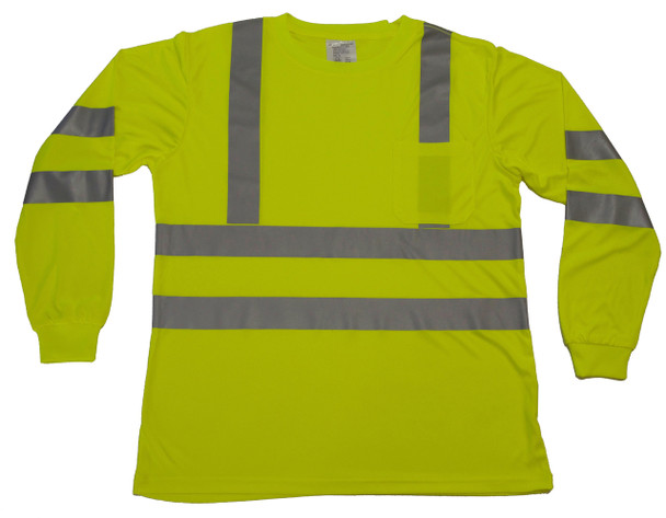 ANSI CLASS 3 SAFETY T-SHIRT LONG SLEEVE