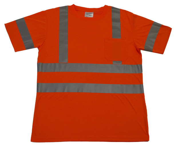 ANSI CLASS 3 SAFETY T-SHIRT SHORT SLEEVE