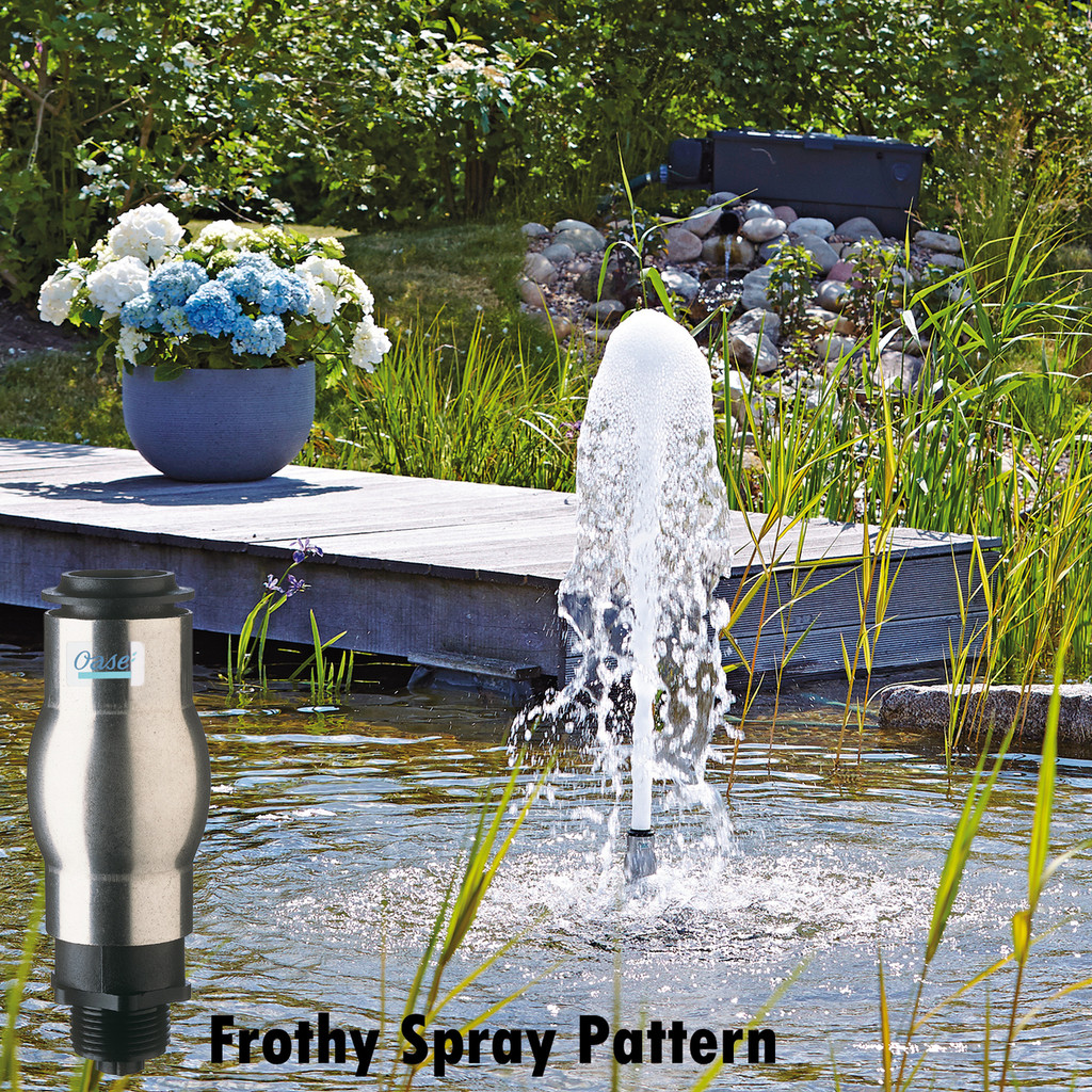 Frothy Nozzle Attachment Spray Pattern