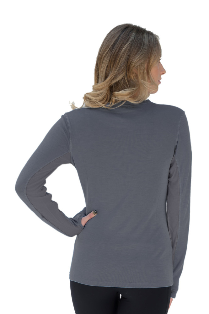 Merino Wool Crew Neck Collection Grey with Grey Trim