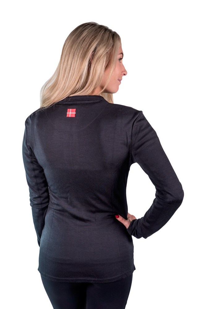 Charlotte Merino Wool Full Zip Collection Black with Black Trim