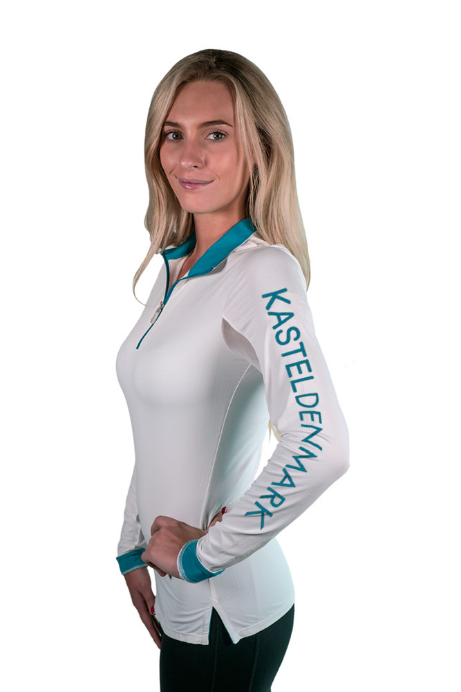 Charlotte Studio Logo Collection Shirt White with Teal
