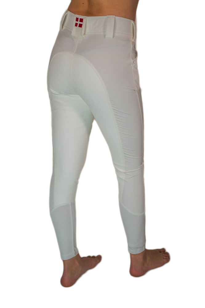 Camilla Full-Seat Suede Breech White