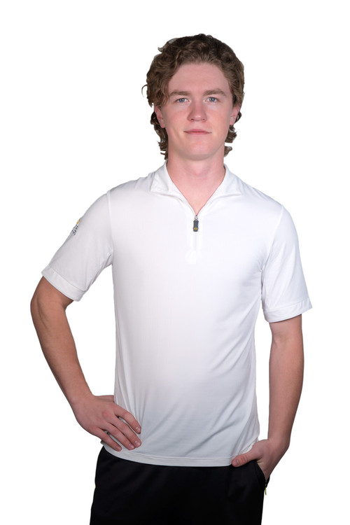 Henrik Men's UV Short Sleeve Shirt White with White Trim