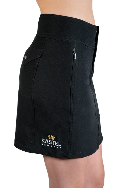 Charlotte Skort Black with Black Trim
