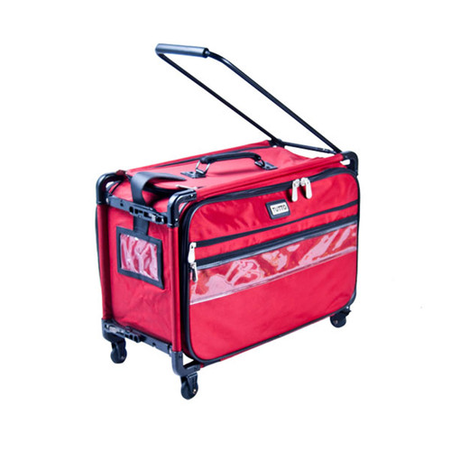 TUTTO, the inventor of 4-wheel, collapsible, and precinct supply/ballot transport bag on 4 wheels.