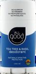 All Good Deodorant - Tea Tree & Basil 2.5 oz