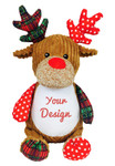 Cubbie Embroidered Harlequin Christmas Reindeer