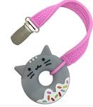 Kitty Donut Silicone Teether Straps Sillichews