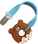 Bear Donut Silicone Teether Straps Sillichews