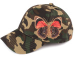 Camo Butterfly Embroidered Baseball Cap CC Beanie