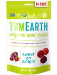 Organic Sour Lollipops 14 pops  3oz Yum Earth