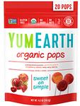 Organic Assorted Flavor Lollipops 20 pops 4.5 oz Yum Earth