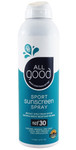 SPF 30 Sport Sunscreen Spray, Water Resistant, 6 oz. All Good