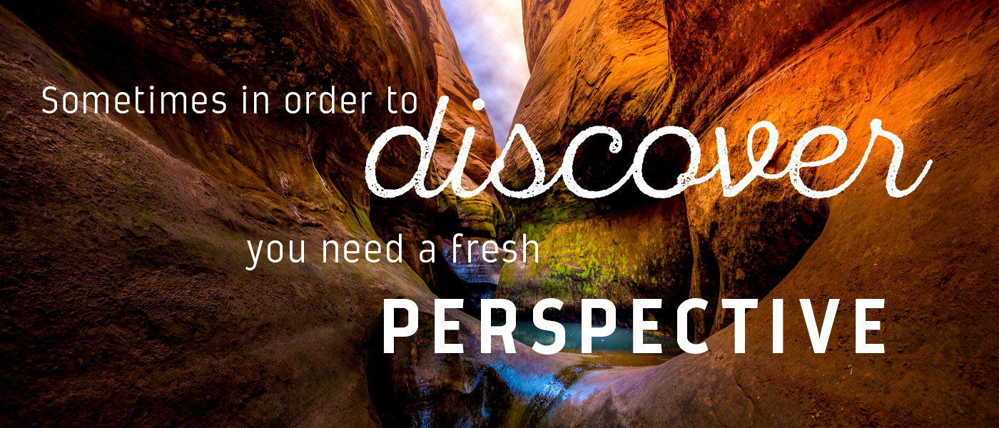 Sometimes in order to discover, you need a fresh perspective.