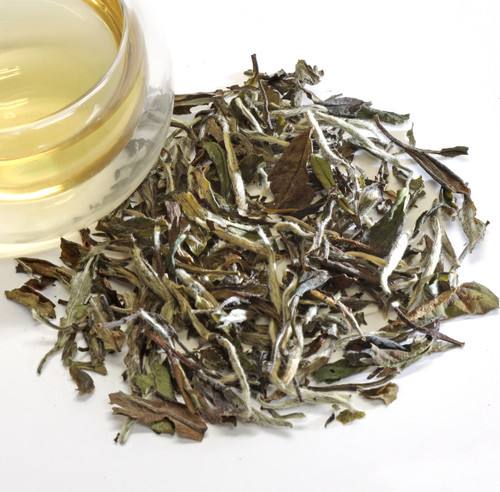 White Symphony Loose Leaf Tea An exquisite version of the White Peony variety, this is a delicate tea made from unopened leaf buds and the newest two leaves to open on the tea bush. For White Symphony, many more buds are included than is typical for classic White Peony. The liquor is very light, similar to Silver Needles. But the flavor is much more complex: faintly floral, warm and sugary like honeydew or white nectarine. Soft mouthfeel and clean, uplifting finish. If you've been enjoying White Peony, we invite you to savor this more refined version.