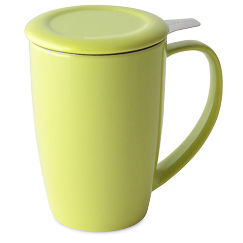 Curve Tall Tea Mug with Infuser & Lid 15oz.