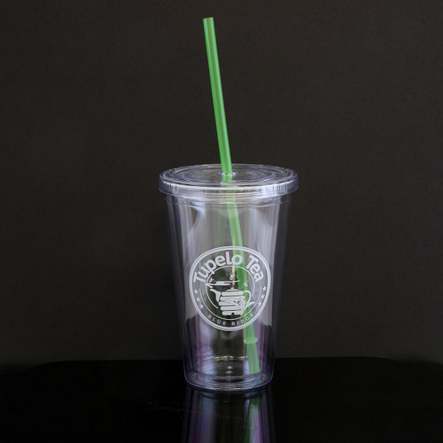 16oz cold/hot Tupelo Tea Tumbler. White