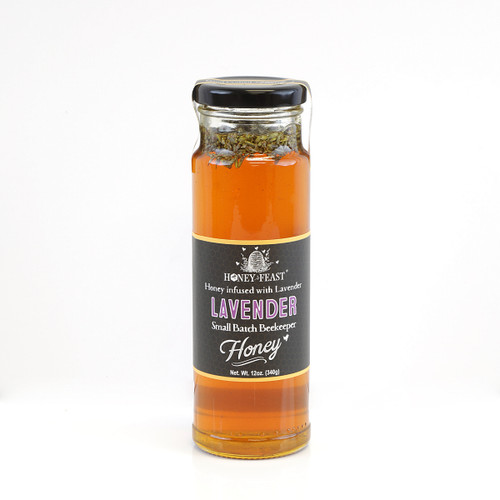 LAVENDER INFUSED HONEY 12oz