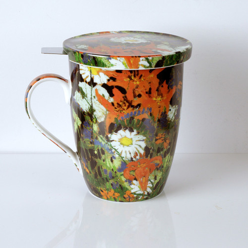 Thomson Marguerites Tea Mug w/ Infuser and Lid