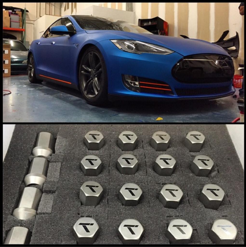 Tesla Titanium Lug Nut Set