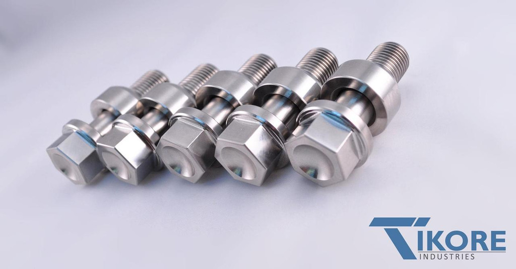 Porsche Titanium Two Piece Lug Bolt Set
