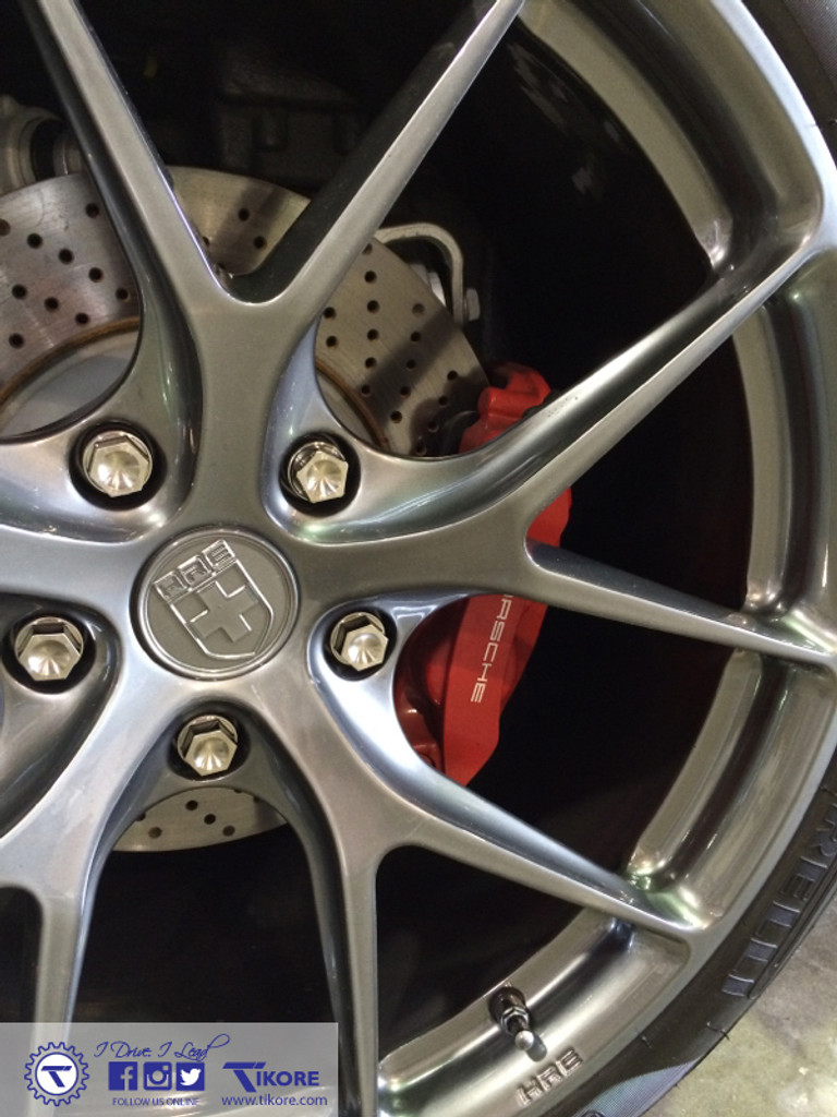 Porsche Cayenne Titanium Two Piece Lug Bolt Set