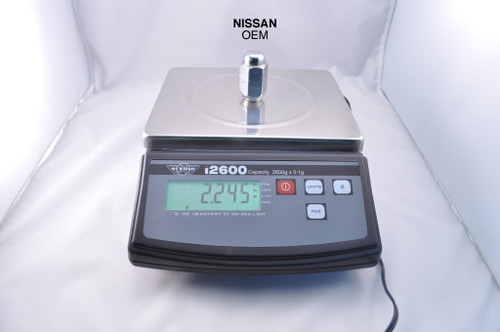 Below shows the weight of an OEM Nissan Lug Nut.