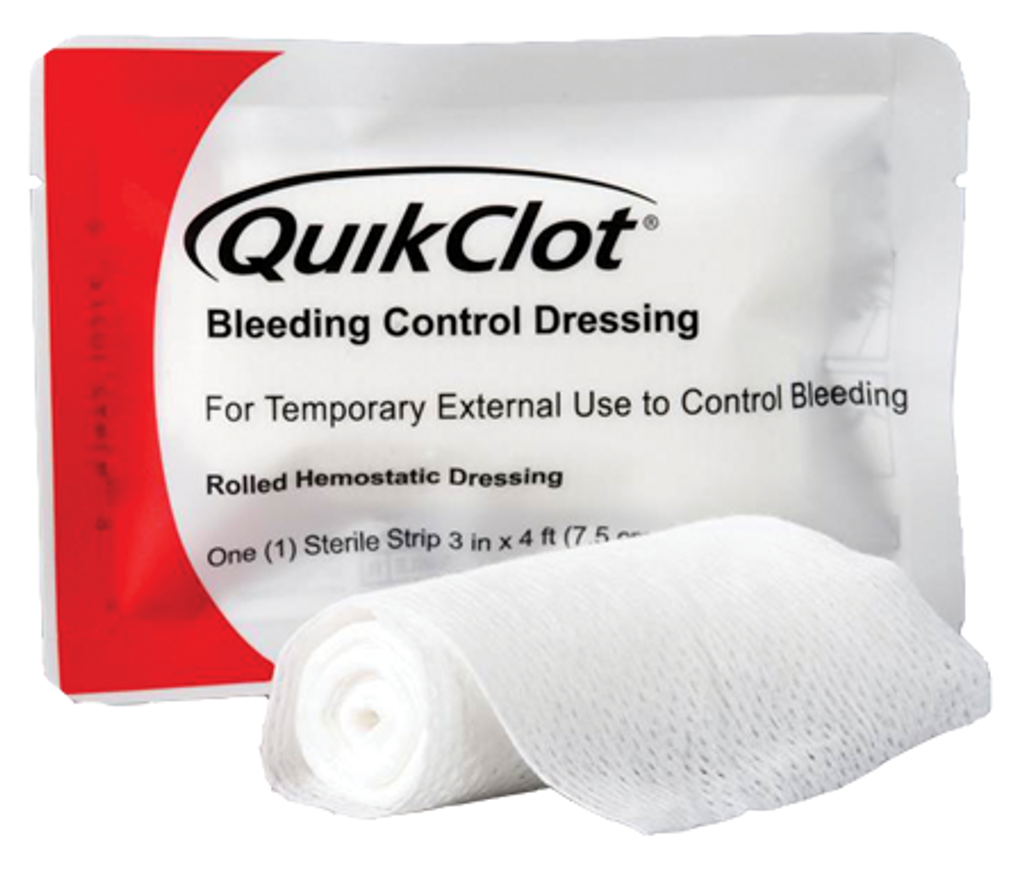 QuikClot Bleeding Control Dressing 4'