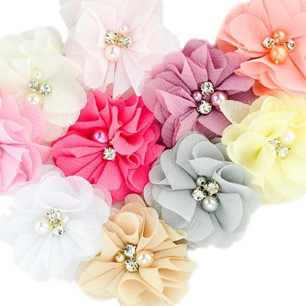 Pearled Sweetheart Flower Clip