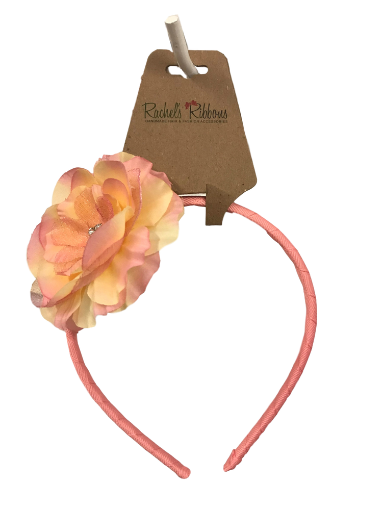 Skinny Headband with Precious Petal Flower on Hangtag